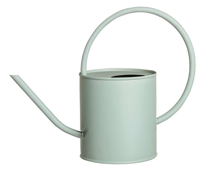 """Metal watering can, $29.99, [H&M Home](https://www.hm.com/au