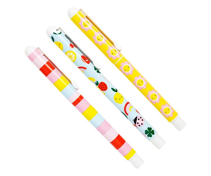 "Trio of pens stocking filler, $9.95/pack of 3, [Kikki.K](https://www.kikki-k.com/au/home|target=""_blank""|rel=""nofollow"")."