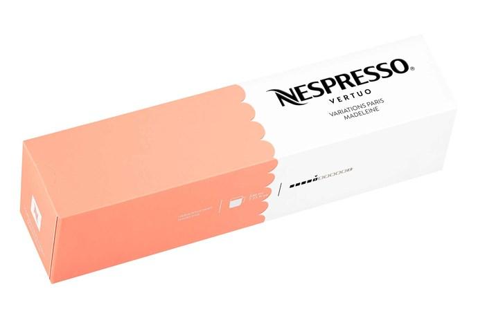 "'Vertuo Variations' Madeleine, capsules, $10/10, [Nespresso](https://www.nespresso.com/au/en/|target=""_blank""|rel=""nofollow"")."
