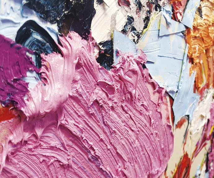 Rich textures play with colours and brushstrokes. *Photography Mitch Lui*.
