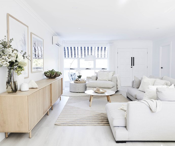 """**#makeanentrance** The main living area was opened up, with double front doors from [Bunnings](https://www.bunnings.com.au/