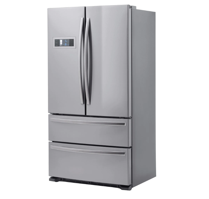 """'Genomkyld' **French door fridge/freezer** in stainless steel, was $1,999 now $999, from [IKEA](https://fave.co/2AkuMvR