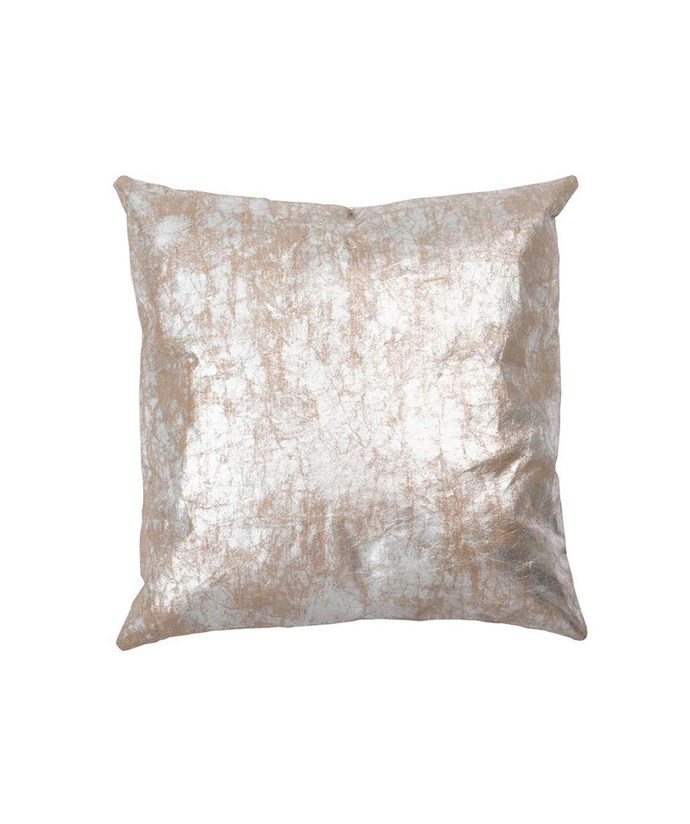 """Luxe paper **cushion** in silver brown, was $99 now $79.20 (using discount code BLACKFRIDAY at checkout), from [Hunting for George](https://fave.co/2QmbBeW