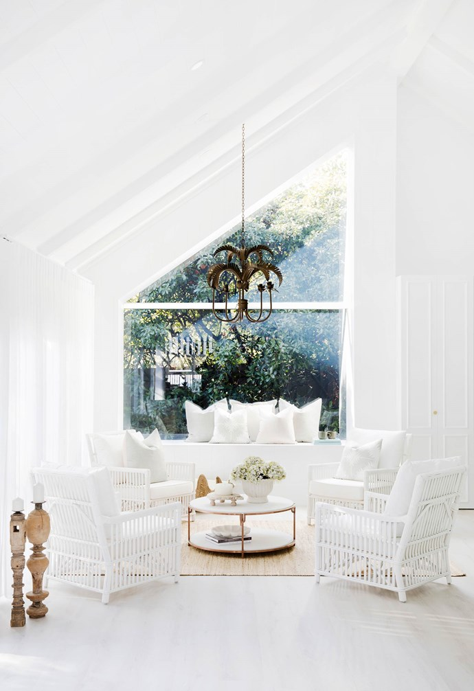 """**#greatheights** """"I wanted to create a bit of a 'moment' in this house, because it had no 'moments' at all,"""" says Bonnie. """"The idea of stepping from the front rooms into something airy and light was what inspired me."""" The angled roof, lined in [Scyon cladding](https://www.scyon.com.au/