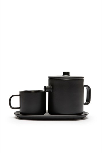 """'Tila' **tea set** for one in charcoal, was $49.95, now $39.96, from [Country Road](https://fave.co/2Qlywaj