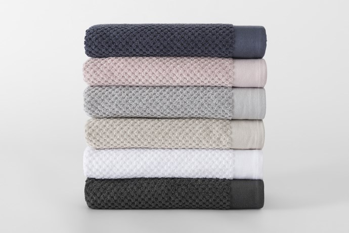 """'Patterson' **towels**, were $19.95 - $89.95, now $5.99 - $26.99, from [Sheridan Outlet](https://fave.co/2QgJjTk