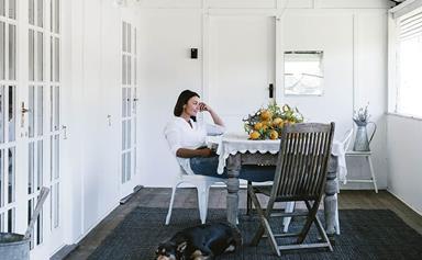A white farmhouse in the Sunshine Coast hinterland