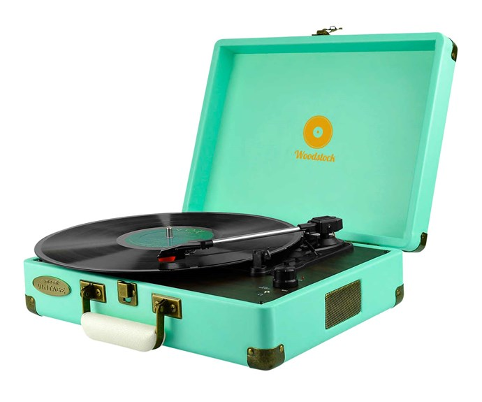 """**Spin it round** What child doesn't love music? The perfect addition to any space. mBeat 'Woodstock' record player in Tiffany Blue, $159, [Rockit Record Players](https://www.rockitrecordplayers.com.au/