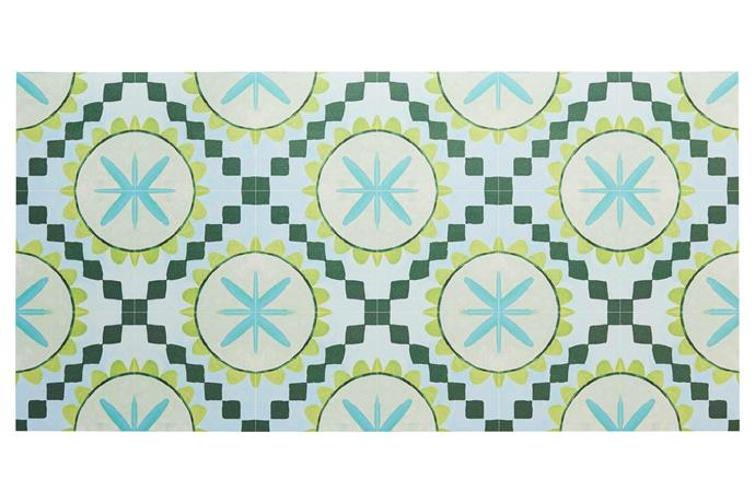 "**Tactile texture** This colourful rug in blue and green is ideal for wet or sandy feet. 'Cuban Green' vinyl rug, $1650/244cm x 305cm, [Bonnie and Neil](http://www.bonnieandneil.com.au/|target=""_blank""