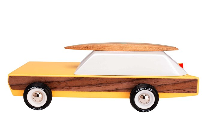 """**Playful vibes** Pick toys with a textured element to add a twist on playtime. Candydlab 'Woodie' toy car, $49.95, [Until](http://www.until.com.au/