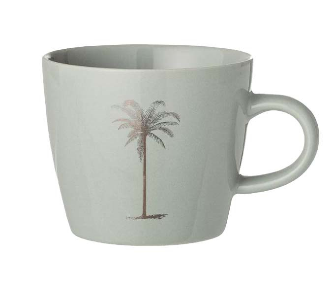 "'Palm' stoneware **cup** in green, $10, from [French Bazaar](https://frenchbazaar.com.au/products/palm-cup-stoneware-green|target=""_blank""