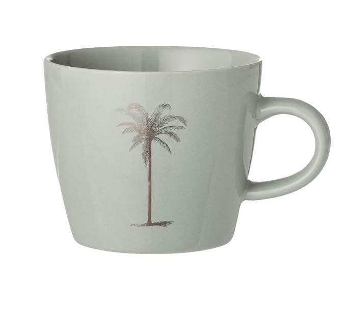 """'Palm' stoneware **cup** in green, $10, from [French Bazaar](https://frenchbazaar.com.au/products/palm-cup-stoneware-green
