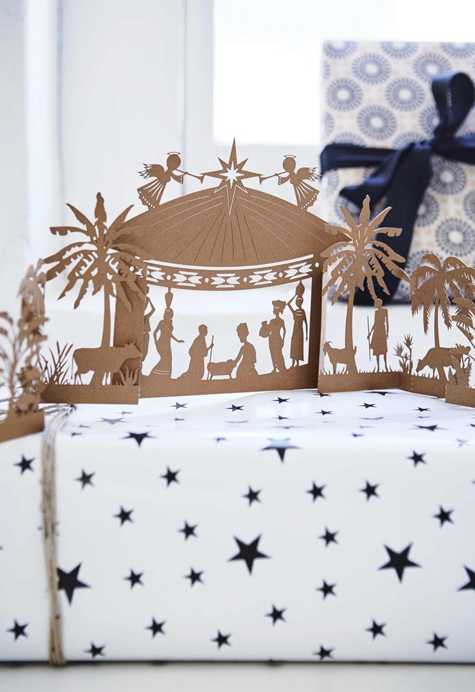 "**Paper nativity** The intricate laser-cut paper nativity scene is by Cape Town paper artist Pauline Irvine of [Artymiss](http://www.artymiss.co.za/|target=""_blank""