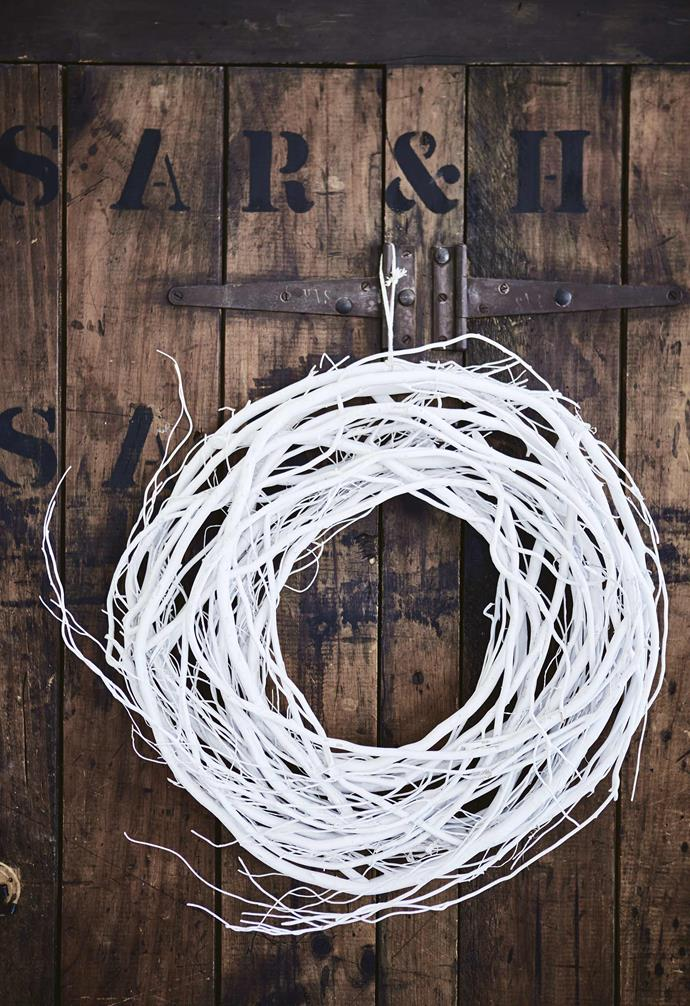 """**Wreath update** The [simple twig wreath](https://www.homestolove.com.au/christmas-wreaths-12870