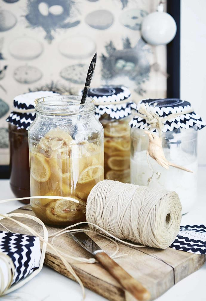 """**DIY preserves** With summer in Cape Town comes an abundance of lemons that Shelley preserves simply with salt a few weeks ahead of Christmas Day to eat with fish and chicken. [Try making baked goods or sweet treats as edible Christmas presents](https://www.homestolove.com.au/christmas-food-presents-19316