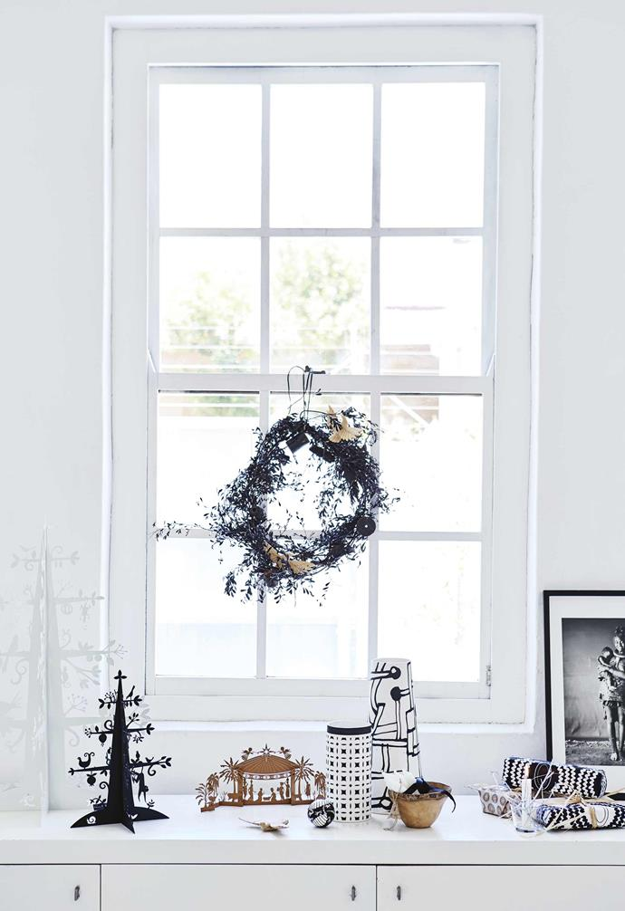 """**Set the scene** Use a sideboard or cabinet top as a stage for a curated vignette, tied together by a [common theme or colour scheme](https://www.homestolove.com.au/christmas-colour-themes-19434