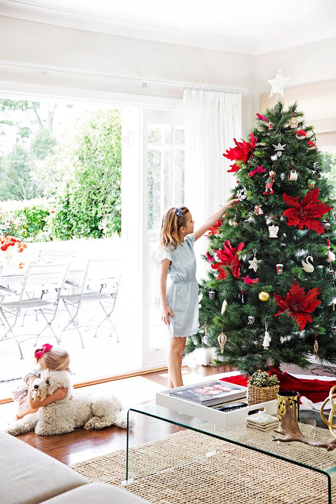 Red and green is still the go-to Christmas colour combination. To prevent the tree from becoming chaotic, allow the green of the tree to become the hero with just a sprinkle of well-placed red ornaments. *Photo: James Henry / bauersyndication.com.au*