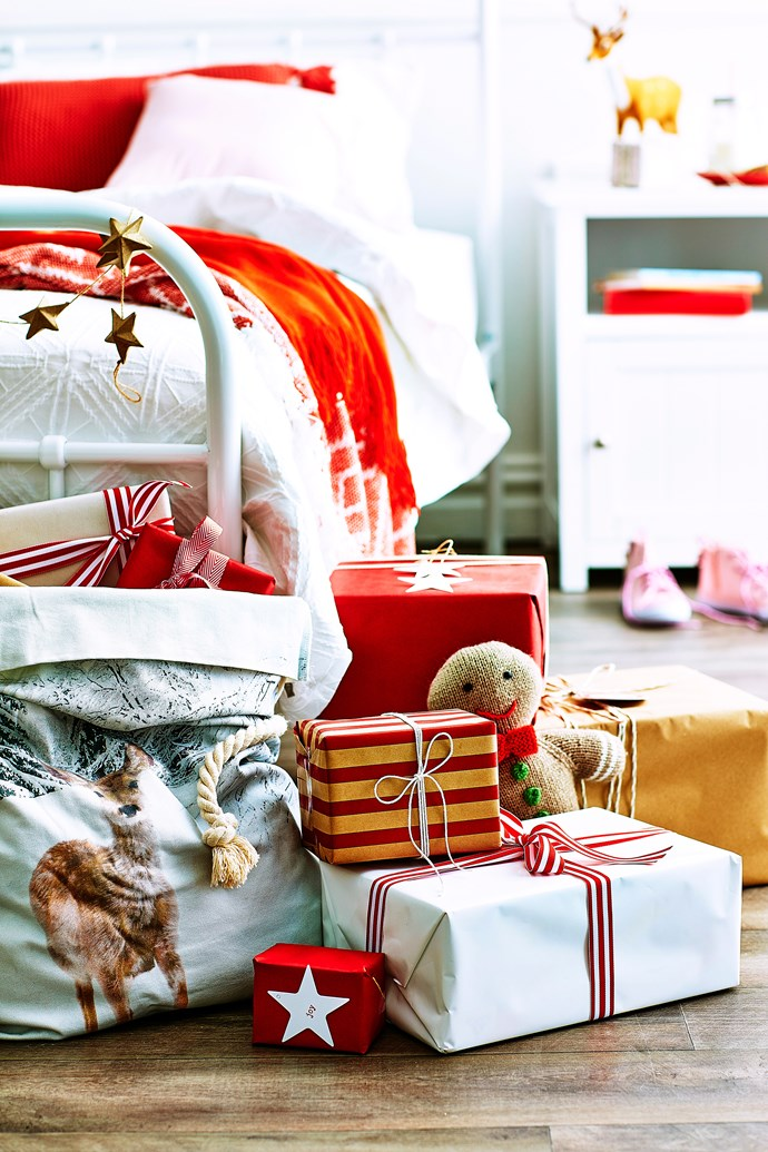 One way to style a red Christmas is to choose decorations and ornaments with white stripes, polka dots or gingham patterns. This will keep the look youthful and fun. *Photo: Scott Hawkins / bauersyndication.com.au*
