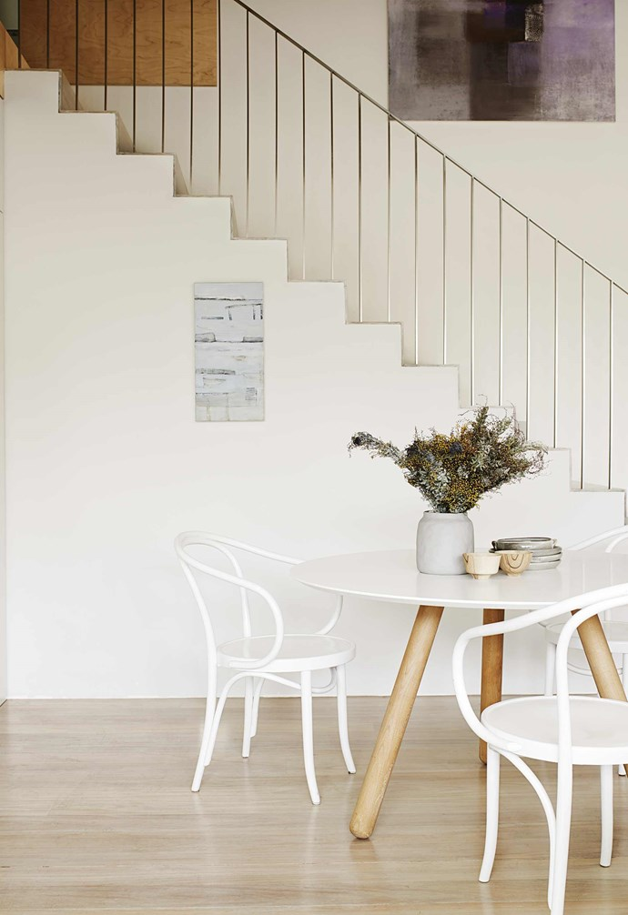 """Andrew's ingenious design led to three homes on a site that originally had two; a passage in the neighbouring yards connects his mother's house to the one he shares with wife Alice Penna, an interior designer (together, they work as [Benn & Penna](https://bennandpenna.com/