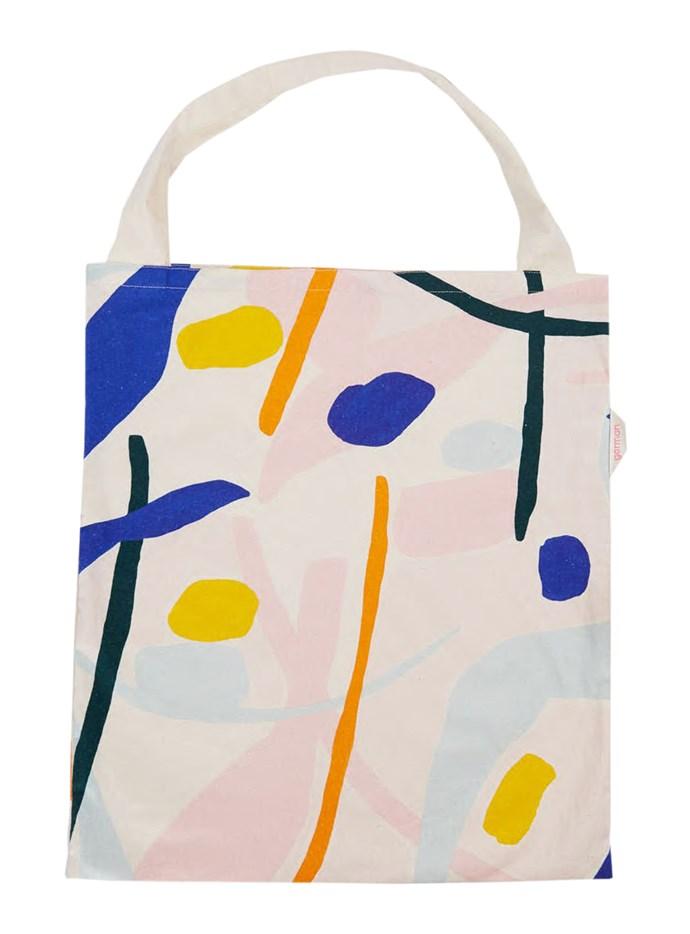 "Dancing Water calico bag, $39, from [Gorman](https://www.gormanshop.com.au/|target=""_blank""|rel=""nofollow"")."
