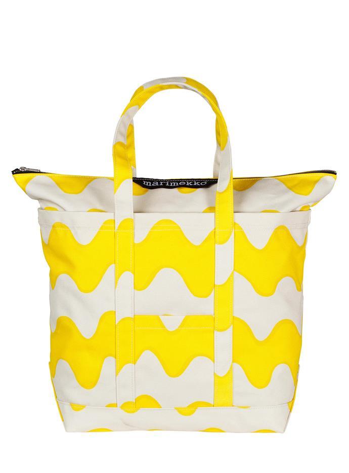 "Uusi Mini Matkuri Pikku Lokki cotton bag, $270, from [Marimekko](https://www.marimekko.com/au_en/ target=""_blank"" rel=""nofollow"")."