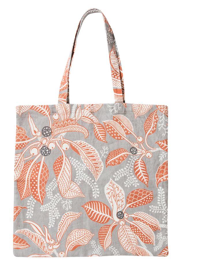 """Fig Grey linen bag, $85, from [Utopia Goods](https://utopiagoods.com/ target=""""_blank"""" rel=""""nofollow"""")."""
