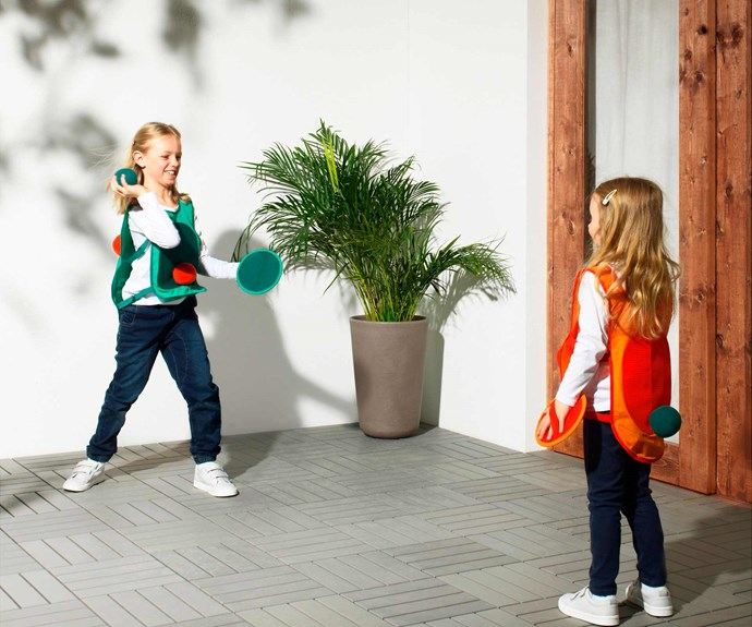 """LUSTIGT tag game with vest and balls, $24.99, [IKEA](https://www.ikea.com/au/en/