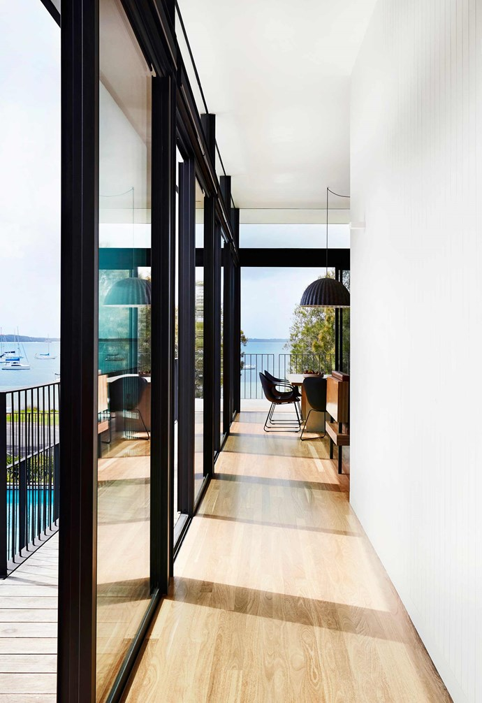 **Structure** Floor-to-ceiling glass makes the most of the home's waterfront location, with the steel frame constructed by HDM Metal delivering a modern feel.