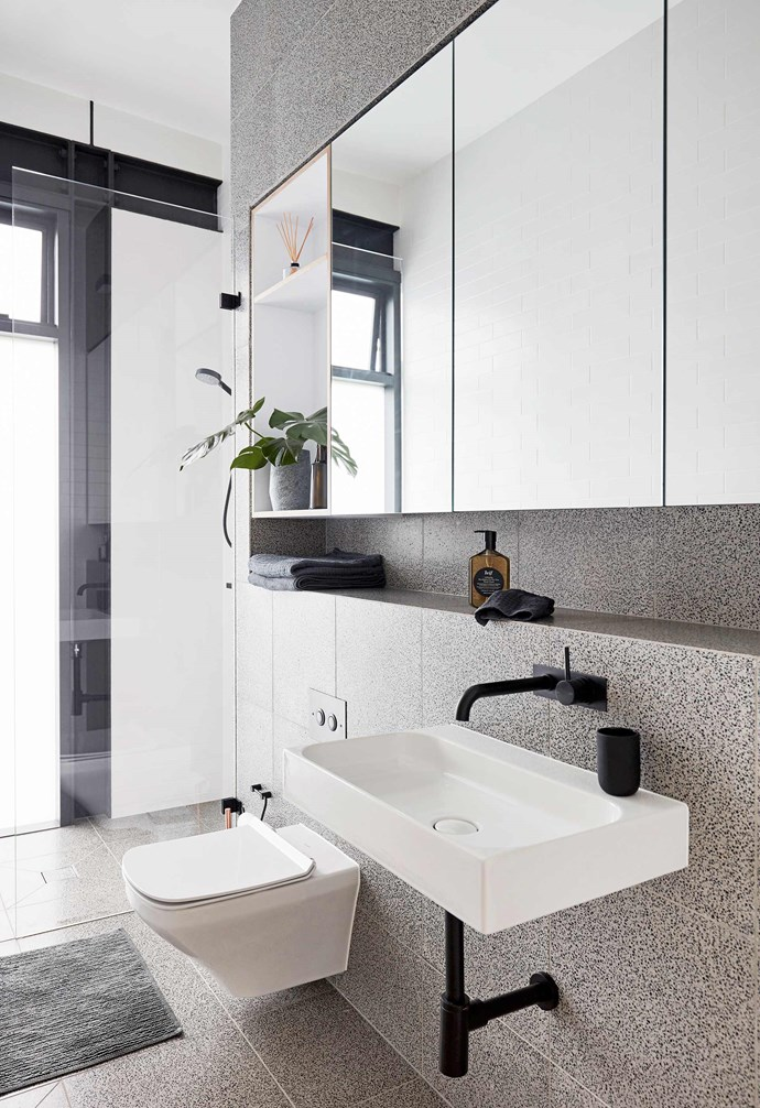 """**Bathroom** Terrazzo tiles in Storm from [Surface Gallery](http://surfacegallery.com.au/