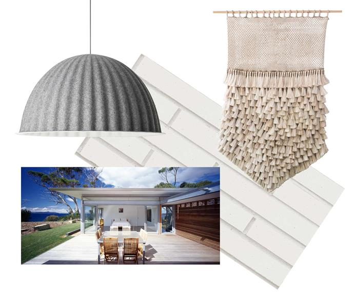 "**Moodboard** Muuto 'Under the Bell' pendant, $1249, [Surrounding](https://surrounding.com.au/|target=""_Blank""