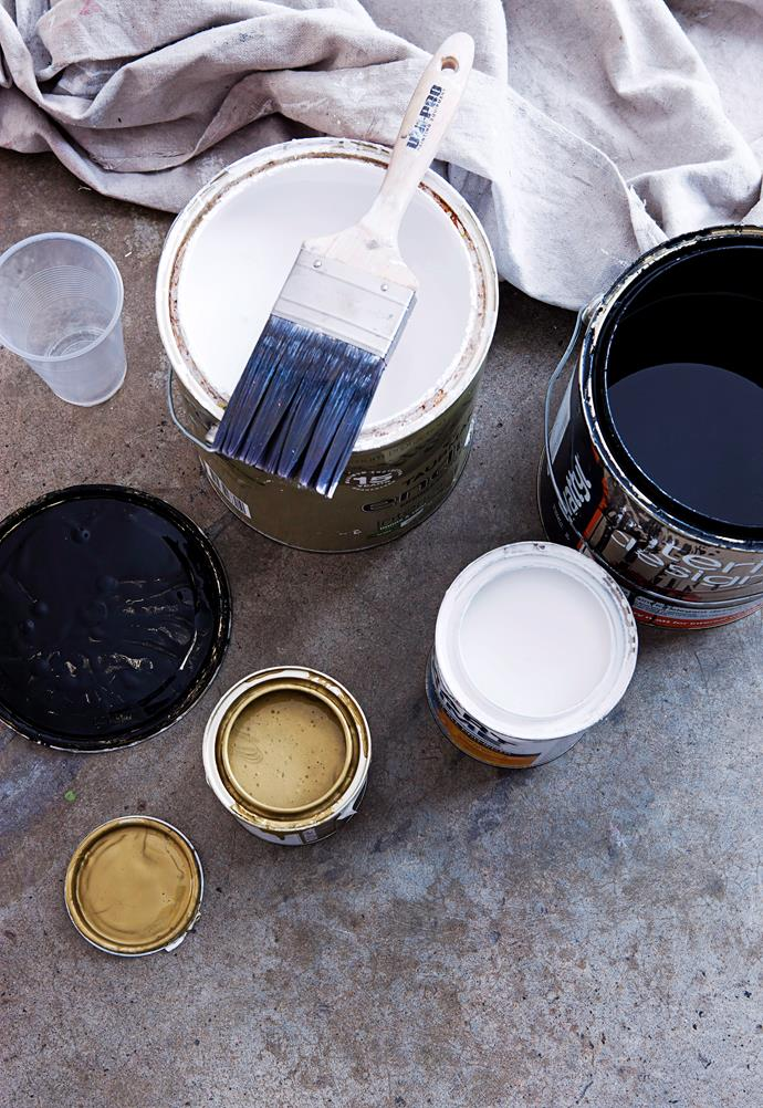 Products such as paints, solvents and varnishes can emit fumes so it's important to use a face mask or full-face respirator. *Photo: Maree Homer / bauersyndication.com.au*