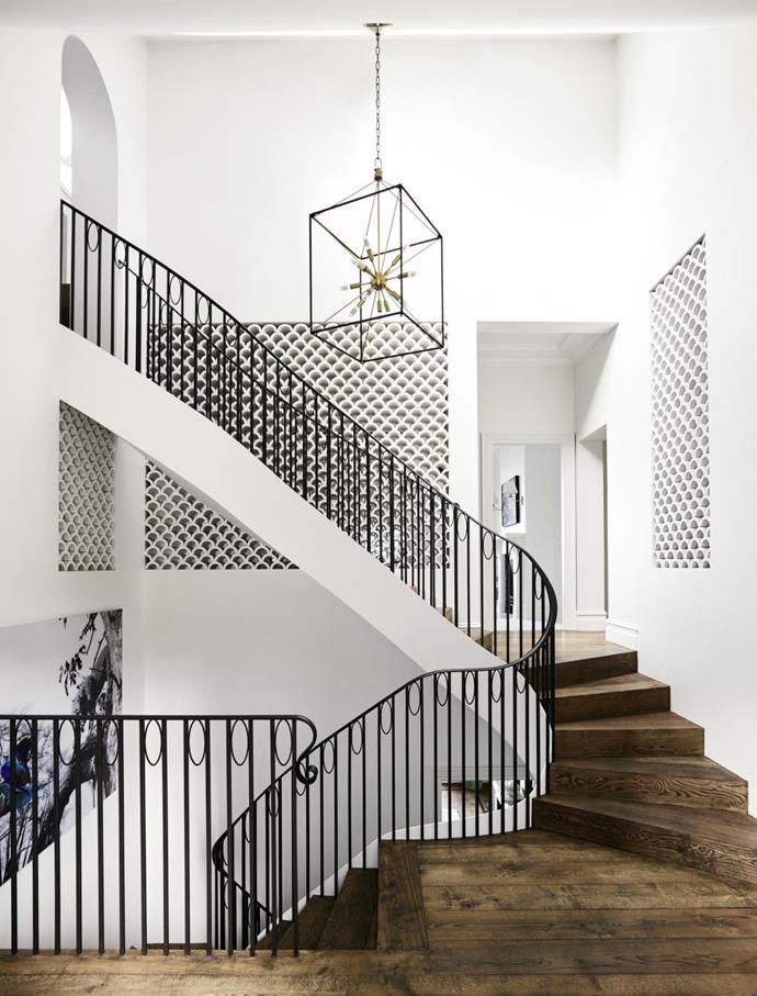 "According to renowned architect Luigi Rosselli, staircases ""are the playground of architects. Designers have chairs, while architects put their talents into stairs to create impact.""  This stunning [renovated Spanish mission style home](https://www.homestolove.com.au/a-spanish-mission-style-homes-hollywood-glamour-update-6677