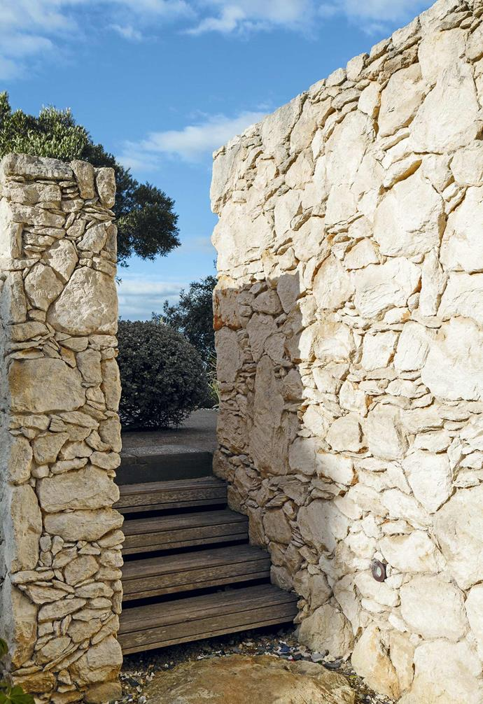 **Limestone wonder** The once-bright limestone wall has mellowed with age – it was once so dazzling you could hardly look at it!