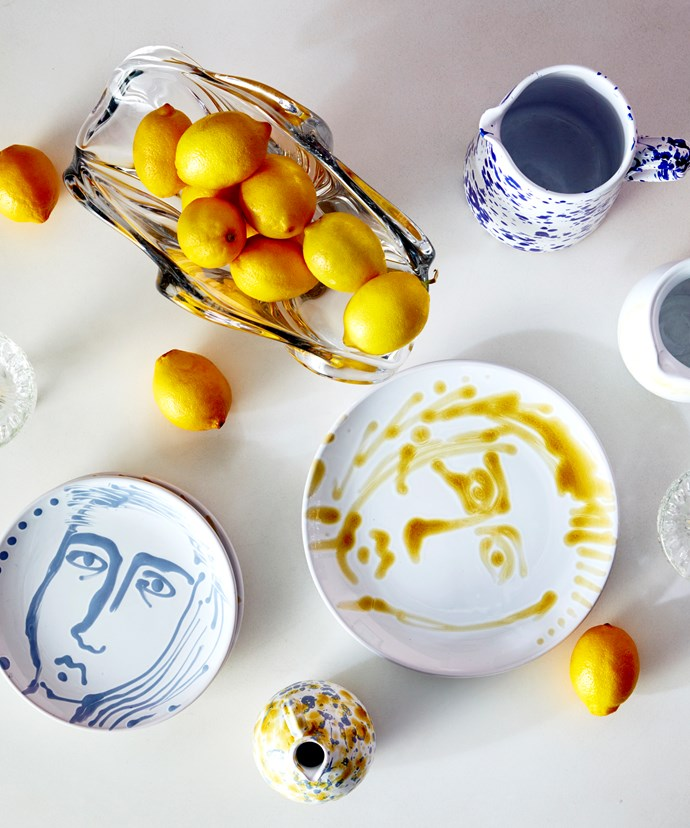 "Fill decorative vessels with fresh fruit instead of flowers – lemons smell just as good and last a lot longer.   **ON THE TABLE**: Hand-painted 'Face' **side plates**, $65, from [Atelier](https://atelierstudios.com.au/collections/summer-ceramics/products/20sp-20f|target=""_blank""