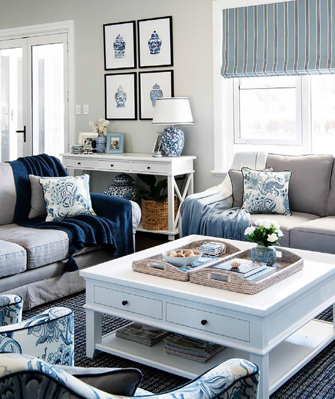"""""""Our style is part classic Hamptons, part modern farmhouse,"""" says Wendy. """"It's a combination that really suits our location in the Southern Highlands."""