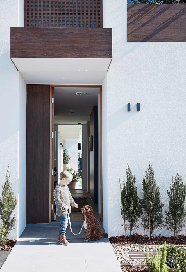 Train your dog to wait for permission before going out the front door or gate.