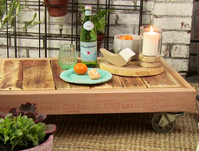 """Find out how to make a pallet coffee table with this [step-by-step guide](https://www.bunnings.com.au/diy-advice/outdoor/outdoor-living/diy-outdoor-pallet-coffee-table-on-wheels