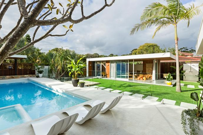 "[Shelley Craft's outdoor studio](https://www.homestolove.com.au/shelley-craft-byron-bay-garden-studio-19277|target=""_blank"") is an example of a luxurious pool cabana. The studio features a guest bedroom and bathroom, living space and kitchenette. *Photo courtesy of [Franklin Landscape & Design](http://www.franklinld.com/
