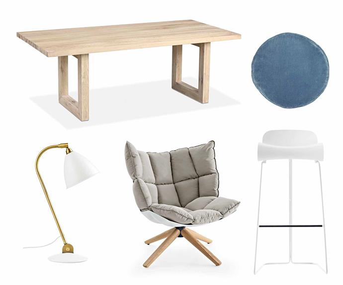 "**Neutral territory** The natural appeal of subtle shades guarantees a timeless result. **Get the look** (clockwise left to right) 'Global' dining table, $2750, [MCM House](https://mcmhouse.com/|target=""_blank""