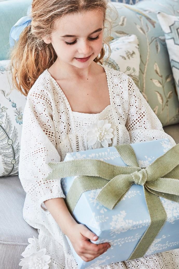 Luella helps spread the festive joy.