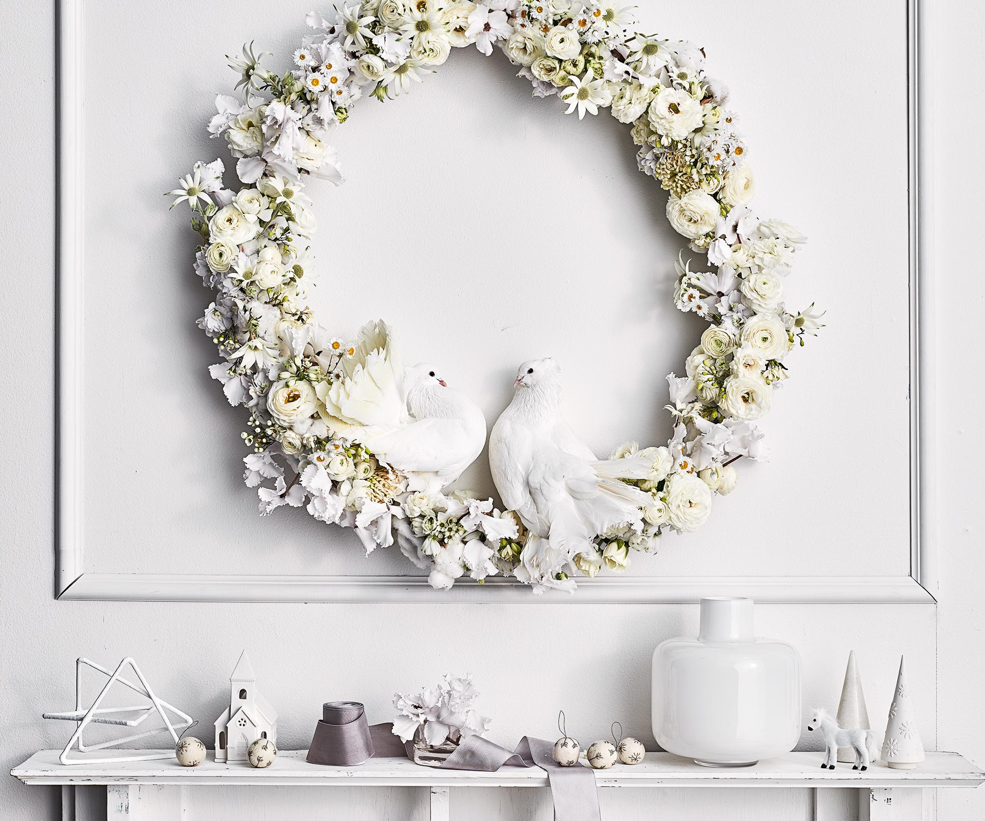 White Christmas decorations: 9 ideas for a white Christmas | Country Style