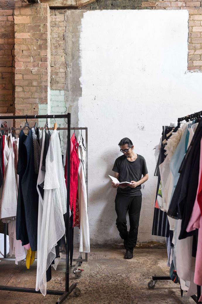 Akira in his warehouse studio in Sydney.