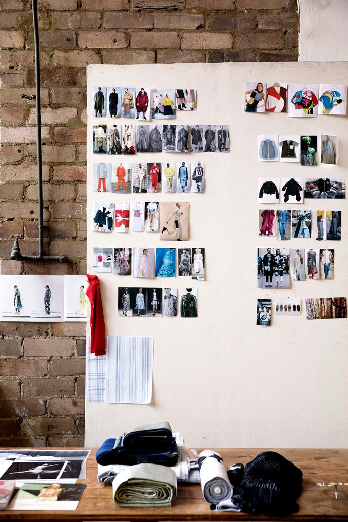 Akira's pinboard includes the work of contemporary designers.