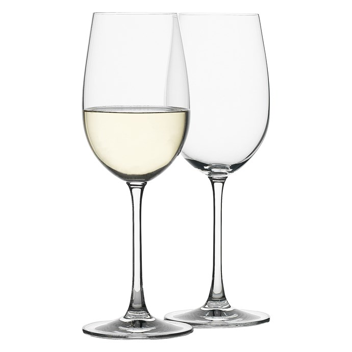 "A classic tapered form in sparkling crystalline (a type of crystal with a low lead content). These glasses make the perfect finishing touch for the table, whether you're celebrating Christmas with family or hosting a dinner for friends.  'Terroir' wine glasses, $40/four, [Freedom](https://fave.co/2QPYLFZ|target=""_blank""