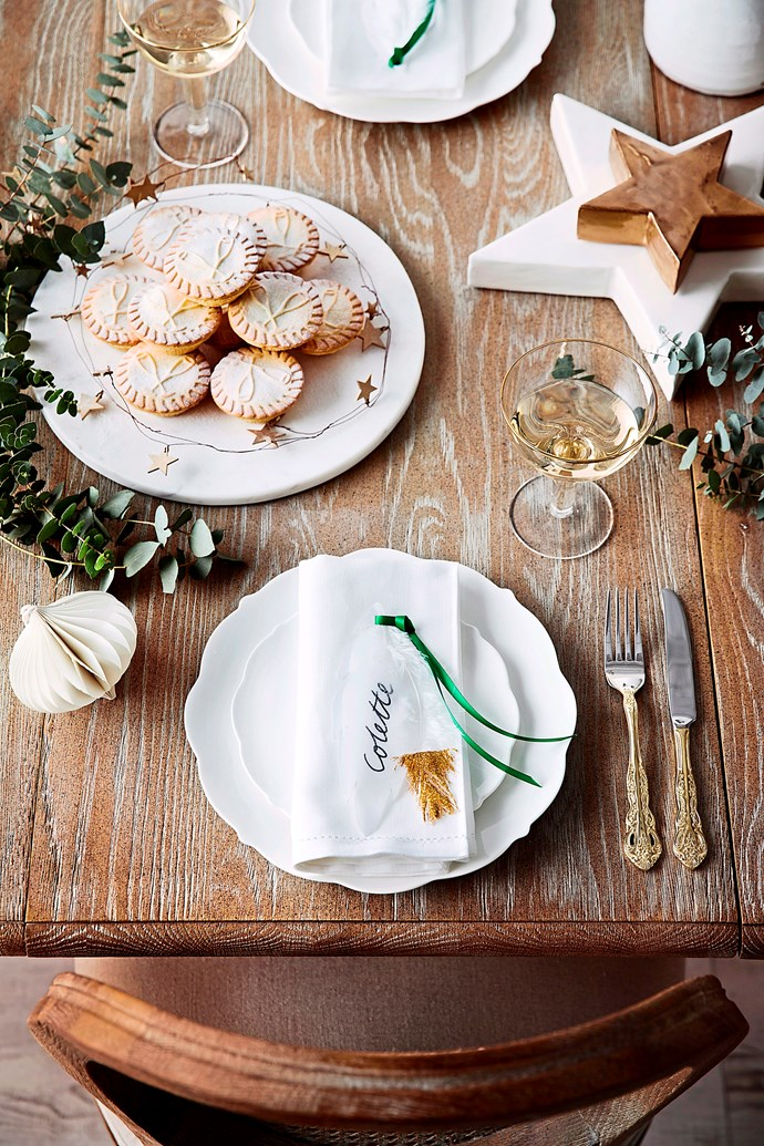 Keep it simple with classic white crockery and elegant glassware. Photo: Chris Warnes