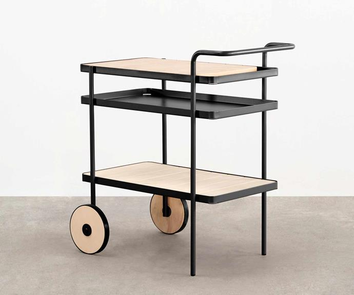 "'Trace' drinks trolley by Adam Goodrum, $1980, [Tait](https://madebytait.com.au/|target=""_blank""