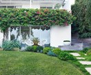 A coastal home's luscious front garden design