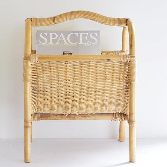 """**70s inspired furniture**: Rattan and wicker furniture – in the form of chairs, planters and magazine racks – are bigger than ever. Going on the hunt for a unique vintage piece is half the fun of running with this look.   *Vintage bamboo **magazine rack**, $40, from [Koko and Bear Co.](https://fave.co/2R49ddr
