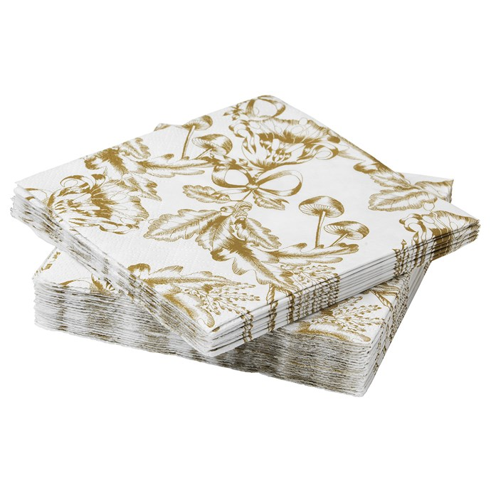 """Guests will excuse your paper napkins when they are this pretty. VINTER paper napkin, [$0.69 /30](https://www.ikea.com/au/en/catalog/products/20403492/