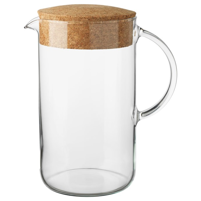 """Have jugs of water (or cocktails) at the ready and let guests serve themselves a drink. IKEA 365+  jug with cork lid, [$6.49](https://www.ikea.com/au/en/catalog/products/30279722/